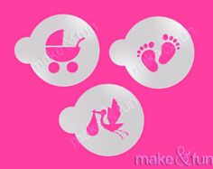 Baby Shower Pattern Cake Stencil Tortenschablone Latest Fashion Cookie Airbrushin Stencil