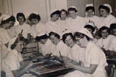 Vooropleiding september 1961, Diaconessenhuis aan de Parklaan. #Eindhoven #ziekenhuis