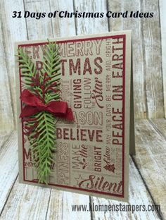 31 Days of Christmas Cards - Day #12