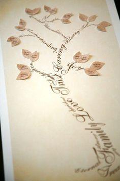 Family tree tattoo idea. Would like great as a back or side tattoo