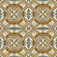 """Camporeale"" decor - handpainted 11.8x11.8 inches tiles / piastrelle cm 30x30 decorate a mano"