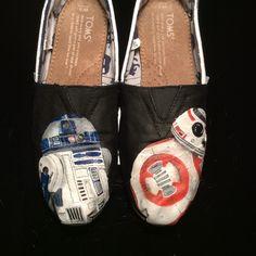 Star Wars Inspired Custom Painted Shoes 0b772c39b