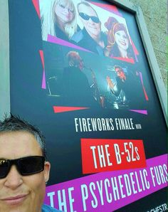 The Psychedelic Furs, B 52s, The B 52's, The Hollywood Bowl, Fireworks, Cover