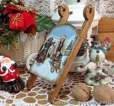 """саночки на елку """"Зимние гулянья"""" - Авторская работа, авторские новогодниеи рождественские подарки. МегаГрад - мега-портал авторской ручной работы"""