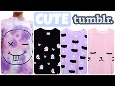 EASY DIY Pastel Goth & Tumblr inspired T- Shirts. The Bat Shirt was inspired by Hello Cavities. I think these turned out soo Cute. I hope you guys like them ...