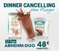 Wenn Sie mit dem Duo 12 x Ihr Abendessen ersetzen, werden Sie nach und nach wie von selbst abnehmen – OHNE HEISSHUNGER!