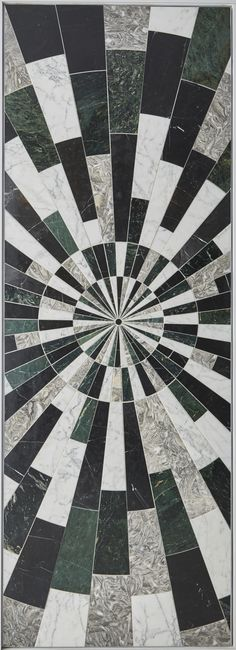 KELLY WEARSTLER X ANN SACKS. 'Liaison Palm' stone patterned tiles