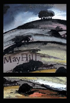 May Hill, Mixed media, watercolour, Kathy Lewis, Gloucestershire