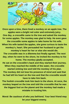English Stories For Kids, Moral Stories For Kids, Learning English For Kids, Short Stories For Kids, English Worksheets For Kids, English Story, English Lessons For Kids, Learn English, Teaching English