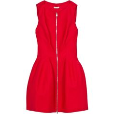 ALAÏA Zip Front Structured Dress ($2,735) ❤ liked on Polyvore