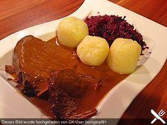 Rinderbraten, ganz einfach, ein gutes Rezept aus der Kategorie Rind. Bewertungen: 321. Durchschnitt: Ø 4,5.