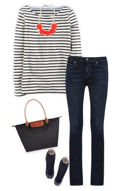 """""""Classic"""" by sc-prep-girl on Polyvore featuring Boden, Citizens of Humanity, Longchamp, Tory Burch and J.Crew"""