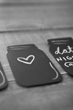 Mason Jar Chalkboard Magnets
