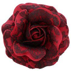 Women's+Black+Lace+Rose+_+Red+[Black+Lace+Rose+_+Red]+-+$19.95+:+Sara+Monica,+Sara+Monica+Flowers
