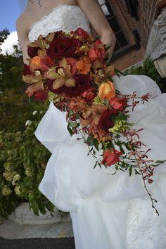Marah Cole Designs fall cascading bouquet / Rustic elegance