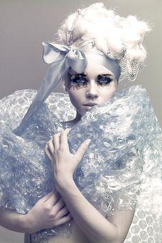 Bubble wrap shawl