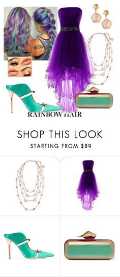 """Rainbows at midnight"" by lalamesing ❤ liked on Polyvore featuring Karine Sultan, Malone Souliers, Jimmy Choo and Pasquale Bruni"