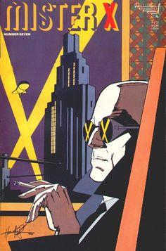 "gnarlycovers: "" Mister X #7 (Vortex Comics - February 1986) Illustrator: Howard Chaykin """