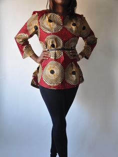NEW The Ava Tunic African Print 100 Holland Wax by ChenBCollection, $59.00