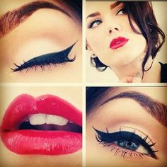 Marylin Monroe is back: a beautifully curved eyeliner for the sexy look and .- Marylin Monroe is back: Ein schön geschwungener Lidstrich für den sexy Blick u… Marylin Monroe is back: a beautifully curved … - Beauty Make-up, Beauty Hacks, Hair Beauty, Beauty Style, Maquillaje Pin Up, Makeup Tips, Hair Makeup, Buy Makeup, Chanel Makeup