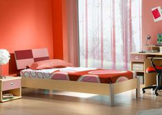Red and mix of 1960s patterns - homeyou ideas #bedroom #interiordesign #homedecor