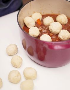 tried these - worked nicely and fairly easy - dumplings Jamie Oliver Food Jamie Oliver (UK) Jamie Oliver, Suet Dumplings, Beef Stew And Dumplings, Fried Dumplings, Chicken Dumplings, Chinese Dumplings, Nigella, Slow Cooker Recipes, Cooking Recipes