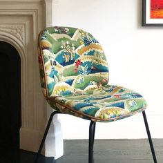 began offering the whimsical in the on a made-to-order basis. Now you can order the same hand-embroidered fabric. Chair by and Luxury Flooring, Conceptual Design, Embroidery Fabric, Schumacher, Curtain Fabric, Fabric Wallpaper, Seat Cushions, Rugs On Carpet, Fabric Design