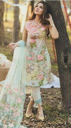 Pakistani Dresses Online Shopping in Pakistan - Buy Pakistani Dresses Online Pakistani Fashion Casual, Pakistani Dresses Casual, Pakistani Dress Design, Pakistani Lawn Suits, Pakistani Dresses Online, Indian Dresses, Indian Outfits, Stylish Dresses, Casual Dresses