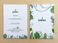 Baby Shower Cards, Baby Cards, When I Grow Up, Woodland Nursery, Roman, Baby Boy, Invitations, Illustration, Birth Announcements