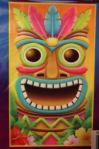 Tropical Island Create Scene Setter Tiki Head Mask Door