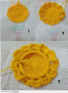 Stylowi.pl - Odkrywaj, kolekcjonuj, kupuj Crochet Flower Patterns, Doily Patterns, Crochet Designs, Crochet Doilies, Crochet Flowers, Knitting Patterns, Holiday Crochet, Easter Crochet, Crochet Toys