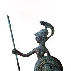 Greek Goddess Greek Key Verdigris Goddess Statue by GreekMythos Metal Art Sculpture, Horse Sculpture, Sculpture Museum, Greece Goddess, Athena Goddess, Ancient Greek Art, Ancient Greece, Greek Gods, Greek Key