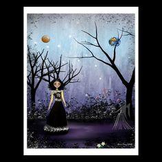 Zodiac Goth Girl 8x10 Art Print VIRGO by RusticGoth on Etsy, $15.00
