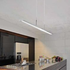 Modern and Chic linear suspension light fixture