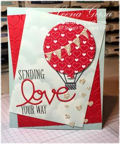 Sending Love Your Way Celebrate Today stamp set and coordinating Balloon Framelits