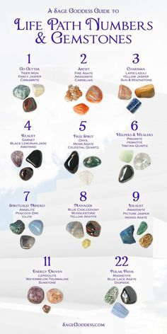 Discover more about your life path number and how to bring this magic into your practice with our Guide (click to find your number and gem trio) #lifepath