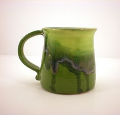Coffee Mug, Cup, Tea, Hand Thrown Pottery by AngelaIngram on Etsy.