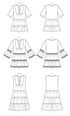 McCall's Sewing Pattern - Misses' Dresses & Belt Wedding Dress Sewing Patterns, Mccalls Sewing Patterns, Dress Patterns, Simple Tunic, Apron Dress, Belted Dress, Tunic Dresses, Sewing Clothes, Boho Dress