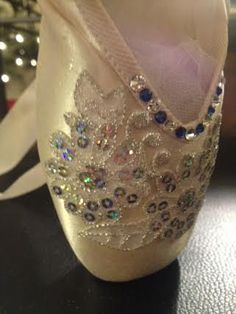 Snow Queen Pointe Shoe on Etsy