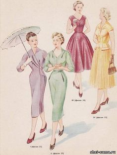 Платье с цельнокроенным оригинальным воротником - Сто фасонов женского платья  - Всё о шитье