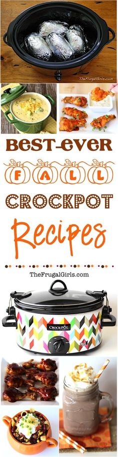Fall Crockpot Recipes! ~ from TheFrugalGirls.com ~ go grab your Slow Cooker and get ready for the Best Ever Fall Crock Pot Recipes... perfect for a cozy dinner, football parties, and fabulous desserts! #slowcooker #recipe #thefrugalgirls: