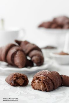 The Rabbit Hole: Croissants chocolate Beignets, Just Desserts, Dessert Recipes, Good Morning Breakfast, Easy Sweets, Pastry And Bakery, Pancakes And Waffles, Cakes And More, I Love Food