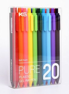 Items similar to KACO Neon Candy Colorful Solid Pure Color Soft Touch Multicolor Gel Pens Office Pens Cute Student Gel Pens on Etsy Stationary Supplies, Stationary School, School Stationery, Cute Stationery, Art Supplies, Stationary Store, Middle School Supplies, College Supplies, Office Supplies