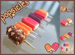 Popsicle polymer clay charms