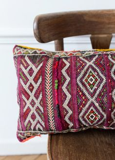 Vintage Moroccan Berber Pillow by Loom & Field on Etsy