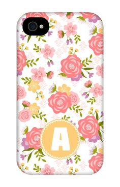 Come shop this Monogram Summer Flowers iPhone 4 Tough Case at http://www.putacaseon.me/products/monogram-summer-flowers-iphone-4-tough-case . Using our custom case tool you can design your case exactly how you want it.