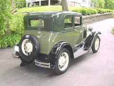 1931 Ford Model A Victoria  This was my very first car at age 13. Even painted it the same green combination. Paid $25 for the car in the rough in 1950.