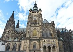 St. Vitus Cathedral, Prague. Construction began 1344 & was consecrated 1929.