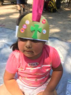 Bible Club craft: Helmet of Salvation.