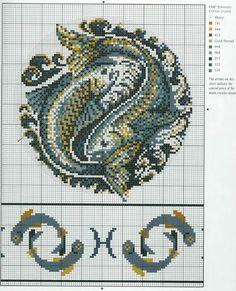 Borduurpatroon Sterrenbeeld Kruissteek *X-Stitch Pattern Zodiac ~Serie 4-3: Vissen 19-02/20-03 *Pisces~